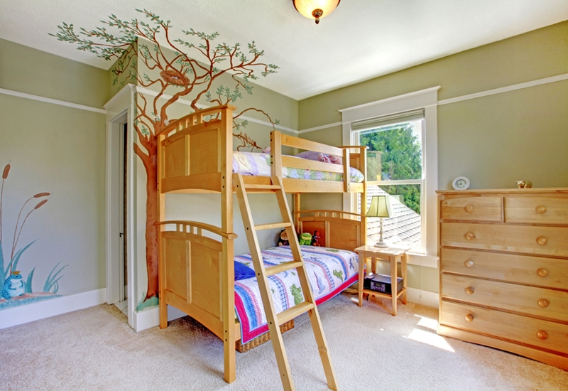 Green is a great colour for your kids room!