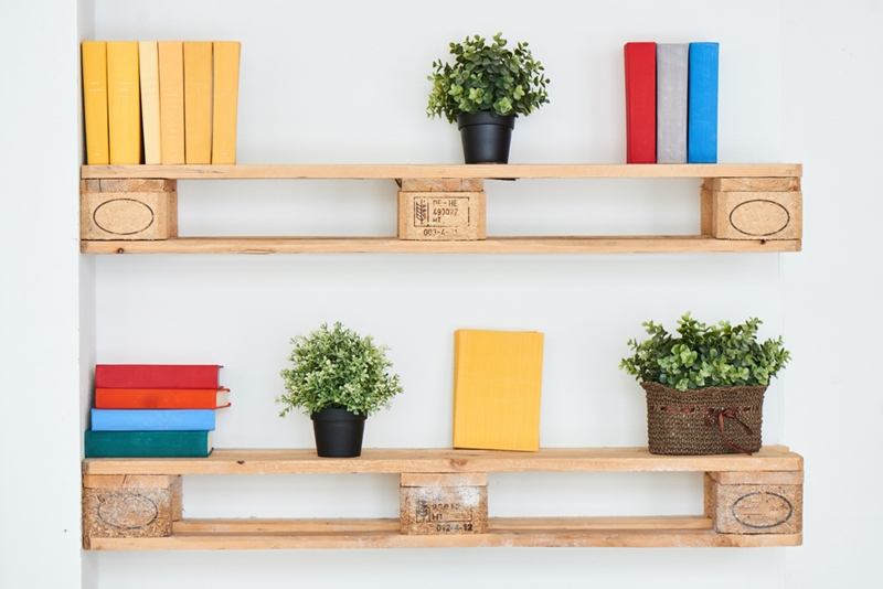 Shelving can be both functional and stylish.