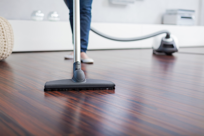 Take note of how your floor has been treated to avoid toxic chemicals.